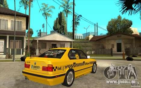 BMW 525tds E34 Taxi pour GTA San Andreas vue de droite