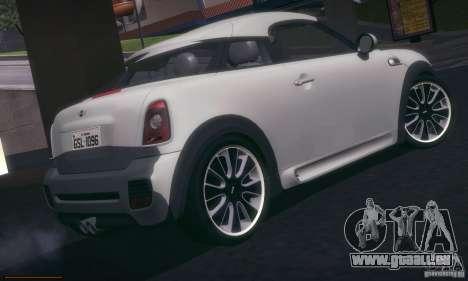Mini Concept Coupe 2010 pour GTA San Andreas vue de droite