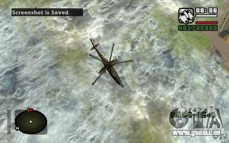 Mil Mi-24 für GTA San Andreas obere Ansicht
