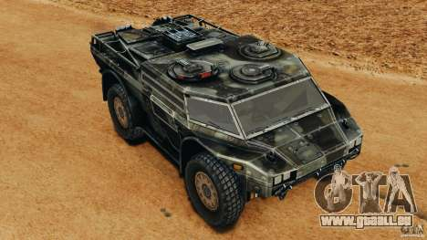 Armored Security Vehicle pour GTA 4 vue de dessus