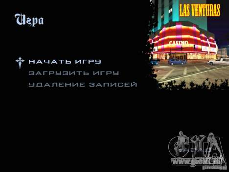 Nouvelles images dans le menu pour GTA San Andreas deuxième écran