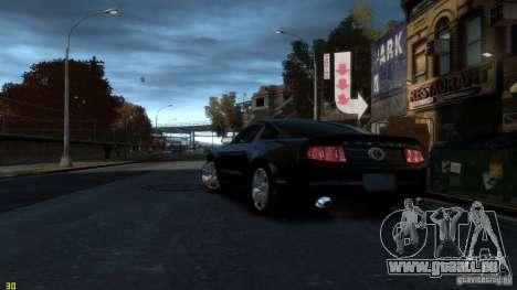 Ford Shelby Mustang GT500 2011 v2.0 pour GTA 4 Vue arrière de la gauche