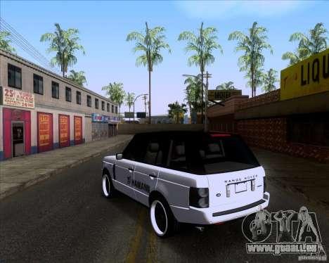 Range Rover Hamann Edition pour GTA San Andreas sur la vue arrière gauche