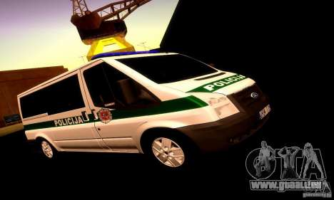 Ford Transit Policija pour GTA San Andreas laissé vue
