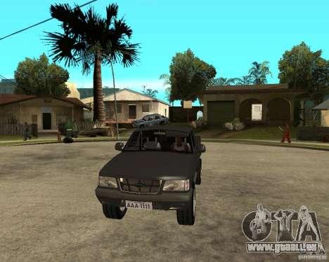 Chevrolet S-10 pour GTA San Andreas vue arrière