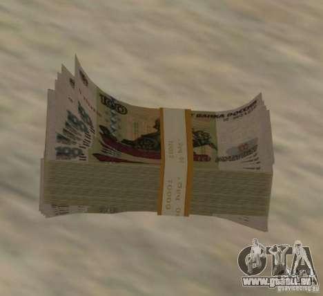 Russian-money pour GTA San Andreas deuxième écran