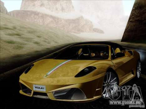 Ferrari F430 Scuderia Spider 16M pour GTA San Andreas vue de dessus