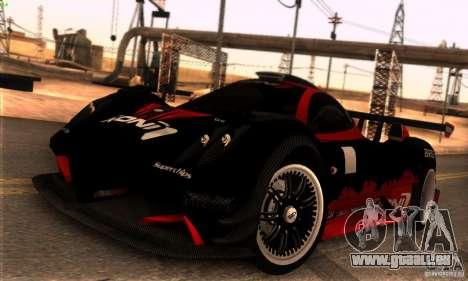 Pagani Zonda R pour GTA San Andreas vue de côté