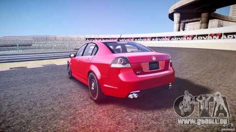 Holden Commodore (CIVIL) pour GTA 4 vue de dessus