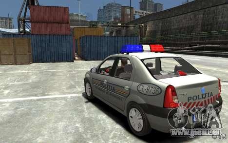 Dacia Logan Prestige Politie für GTA 4 hinten links Ansicht