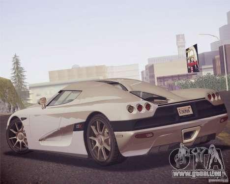 Koenigsegg CCX 2006 v2.0.0 für GTA San Andreas rechten Ansicht