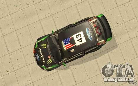 Ford Focus RS WRC 08 pour GTA San Andreas vue de dessus