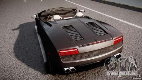 Lamborghini Gallardo LP560-4 Spyder 2009 für GTA 4 obere Ansicht