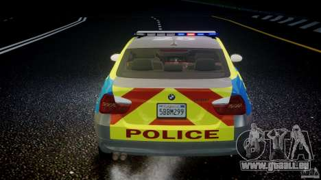 BMW 350i Indonesian Police Car [ELS] pour GTA 4 roues