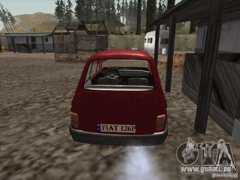 Fiat 126p Elegant für GTA San Andreas zurück linke Ansicht