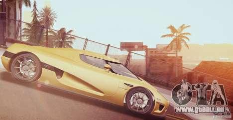 Koenigsegg CCX 2006 v2.0.0 pour GTA San Andreas vue de côté