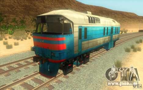 Un train reliant le jeu Half-Life 2 pour GTA San Andreas laissé vue