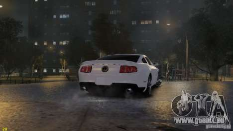 Ford Shelby Mustang GT500 2011 v2.0 für GTA 4 obere Ansicht