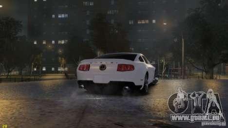 Ford Shelby Mustang GT500 2011 v2.0 pour GTA 4 vue de dessus