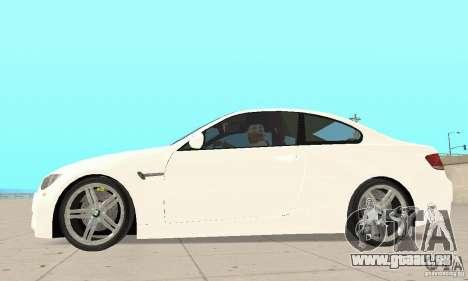 BMW M3 2008 pour GTA San Andreas vue arrière