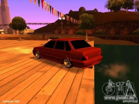 VAZ 2115 pour GTA San Andreas laissé vue