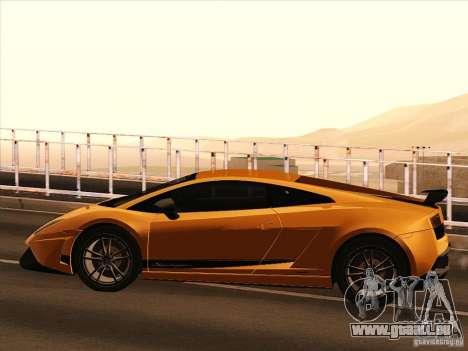 Lamborghini Gallardo Superleggera pour GTA San Andreas sur la vue arrière gauche