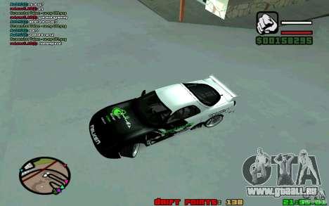 Mazda RX7 Drift pour GTA San Andreas laissé vue