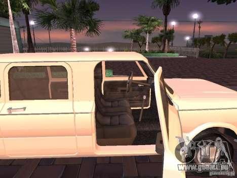 ZAZ 968 m Limousine für GTA San Andreas zurück linke Ansicht