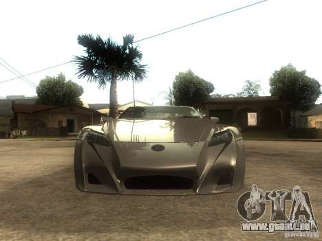 Lexus LFA Custom pour GTA San Andreas vue de droite