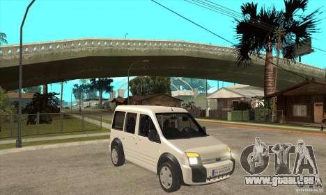 Ford Transit Connect 2007 für GTA San Andreas Rückansicht