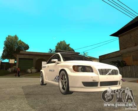 VOLVO C30 SAFETY CAR STCC v2.0 für GTA San Andreas rechten Ansicht