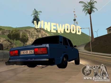 VAZ 2107 Bakou pour GTA San Andreas laissé vue