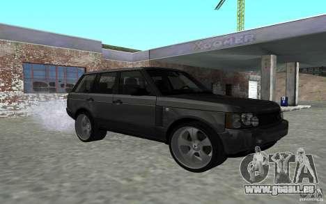 Land Rover Supercharged für GTA San Andreas Rückansicht