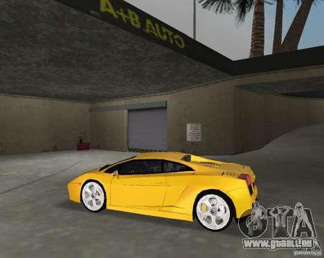 Lamborghini Gallardo v.2 pour GTA Vice City sur la vue arrière gauche