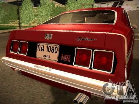 Mitsubishi Galant GTO-MR pour GTA San Andreas laissé vue
