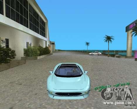 Jaguar XJ220 pour une vue GTA Vice City de la gauche