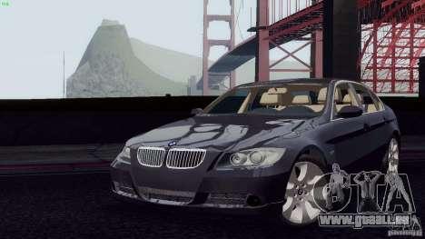 BMW 330i e90 pour GTA San Andreas vue de droite