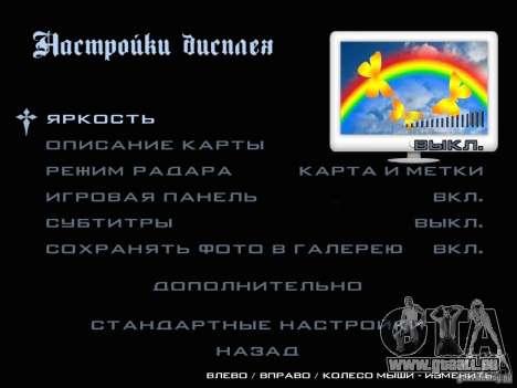 Nouvelles images dans le menu pour GTA San Andreas sixième écran