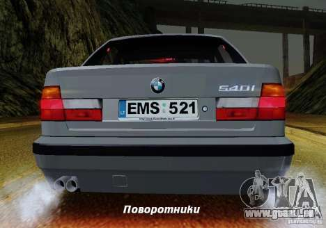 BMW E34 540i Tunable pour GTA San Andreas moteur
