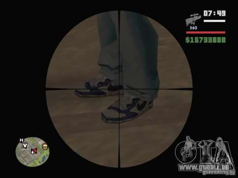 Blue Nike Air Force für GTA San Andreas zweiten Screenshot
