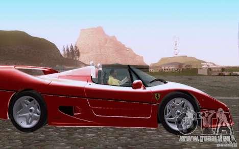 Ferrari F50 v1.0.0 1995 pour GTA San Andreas vue intérieure