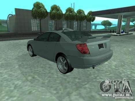 Saturn Ion Quad Coupe 2004 pour GTA San Andreas vue de dessous