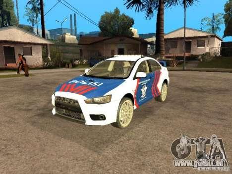 Mitsubishi Lancer X Police Indonesia für GTA San Andreas