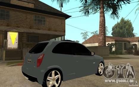 Chevrolet Celta VHC 2011 pour GTA San Andreas vue de droite