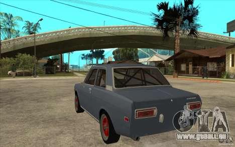 Datsun 510 JDM Style für GTA San Andreas zurück linke Ansicht