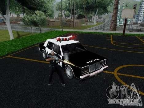 Greenwood Police LS für GTA San Andreas Rückansicht
