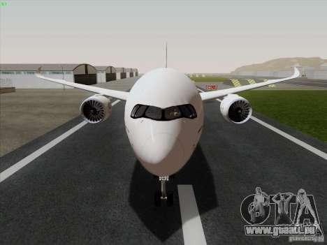 Airbus A350-900 Emirates für GTA San Andreas zurück linke Ansicht