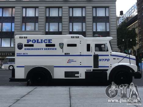 Enforcer Emergency Service NYPD pour GTA 4 Vue arrière de la gauche