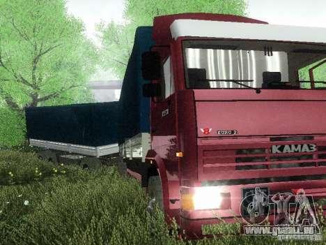 KAMAZ 65117 pour GTA San Andreas sur la vue arrière gauche