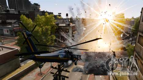 Un hélicoptère avec un RPG pour GTA 4 est un droit